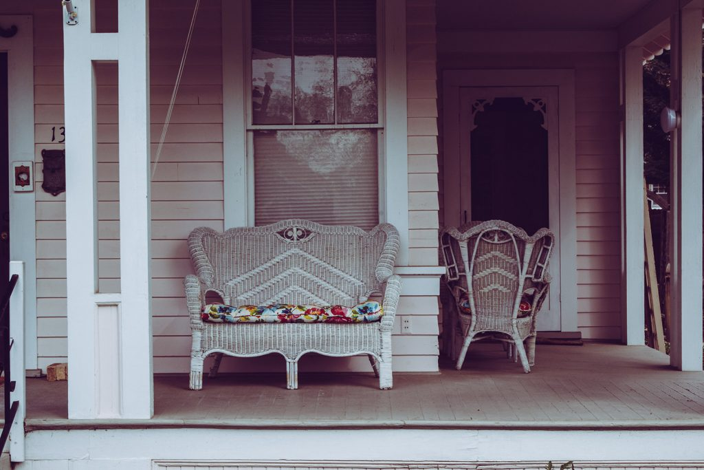 Image of chairs on a porch