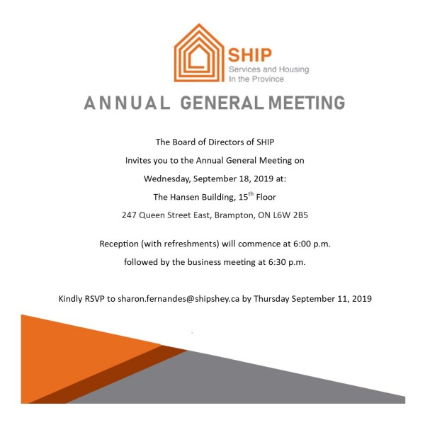 SHIP Annual General Meeting Invite 2019