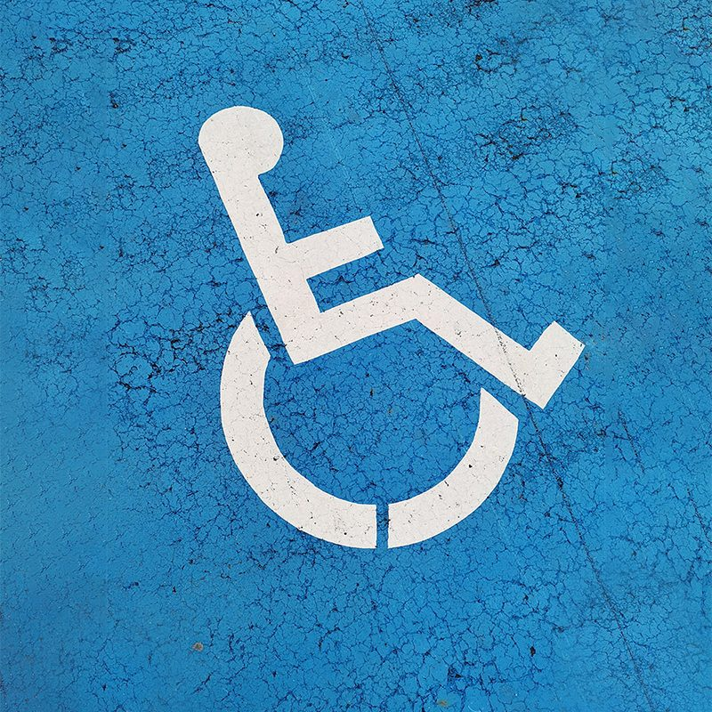 Image of handicap icon on parking space